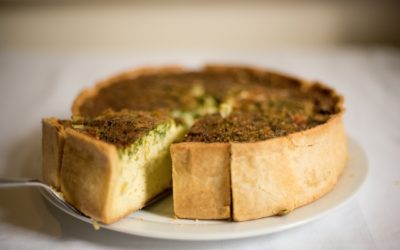 QUICHE DE LACON Y QUESO